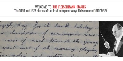 The Fleischmann Diaries at UCC
